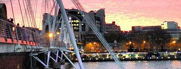 Hungerford & Golden Jubilee Bridges is one of London Favorites.