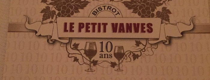 Le Petit Vanves is one of A tester.