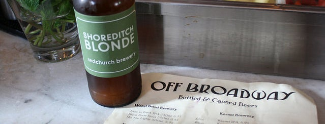 Off Broadway is one of Bitches City Guide: East London.