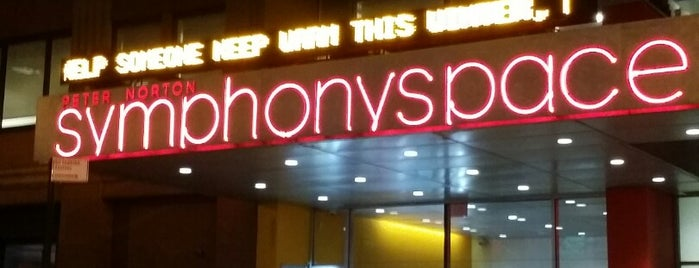 Symphony Space is one of The New Yorkers: Extracurriculars.