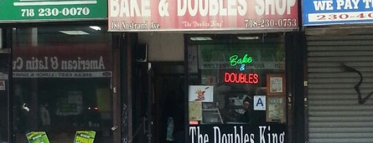 A & A Bake & Doubles is one of The Locals Only Guide to Eating & Drinking in NYC.