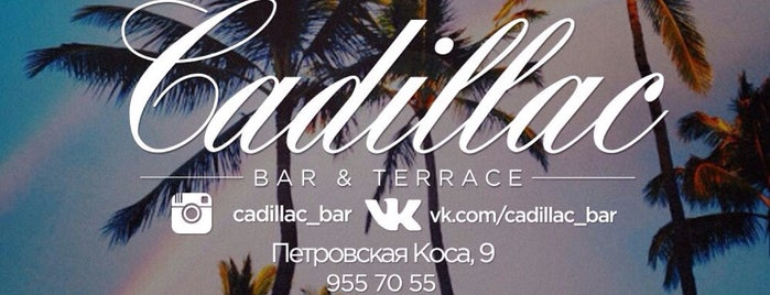 Cadillac Bar & Terrace is one of Locais curtidos por Alexandra.