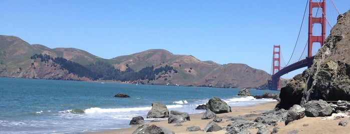 Marshall's Beach is one of San Francisco.