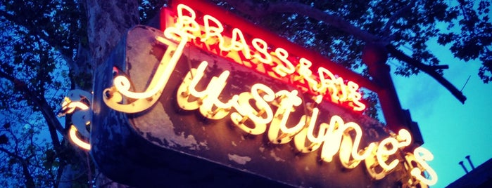 Justine's Brasserie is one of Date Night.