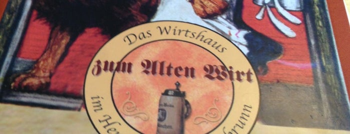 Alter Wirt is one of Münih.