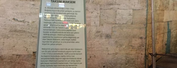 Tarihi Taksim Maksemi is one of Lugares favoritos de Faruk.