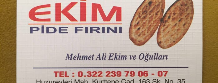 Ekim Pide Fırını is one of Locais curtidos por Faruk.