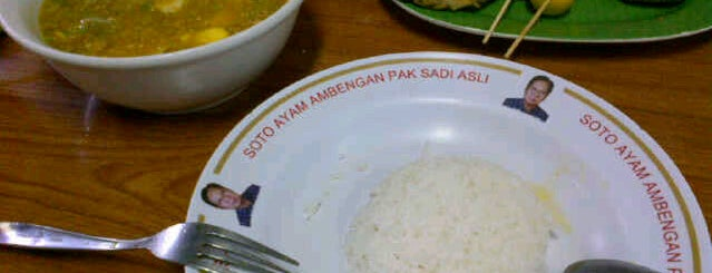 Soto Ayam Ambengan Pak Sadi Asli is one of The most favorite foods in Surabaya.