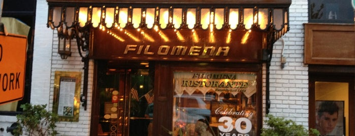 Filomena Ristorante is one of crash course: dc.