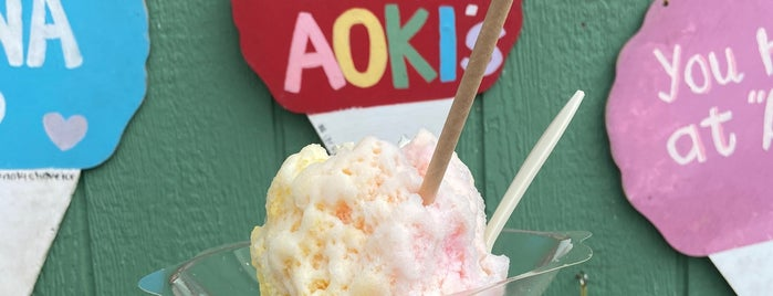 Aoki's Shave Ice is one of Honolulu.
