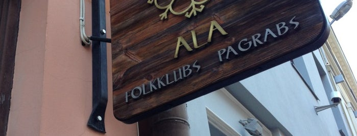 Folkklubs Ala Pagrabs is one of Riga.