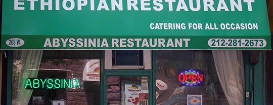 Abyssinia Restaurant is one of 200 Black-Owned Restaurants in NYC.