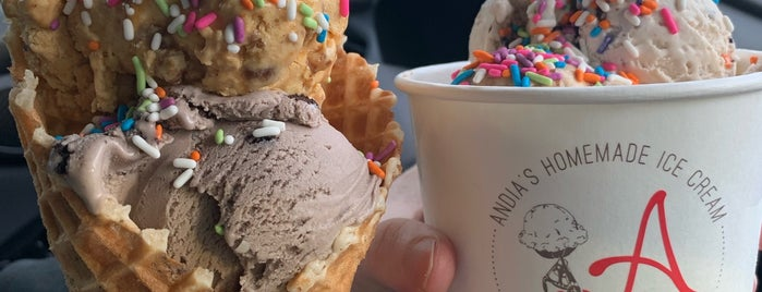 Andia's Homemade Ice Cream is one of Veg Friendly Spots.
