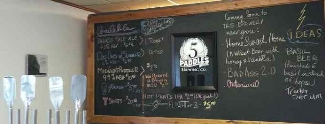 5 Paddles Brewing Company is one of Lugares guardados de Darcy.