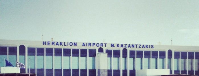 Heraklion International Airport Nikos Kazantzakis (HER) is one of Airports I've been to.