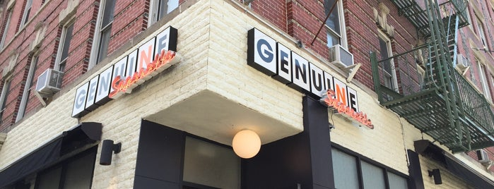 Genuine Superette is one of Nyc restaurants.
