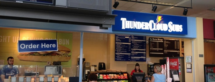 ThunderCloud Subs is one of Lunch spots.