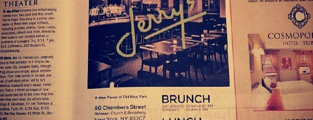Jerry's is one of NYC Places to try.