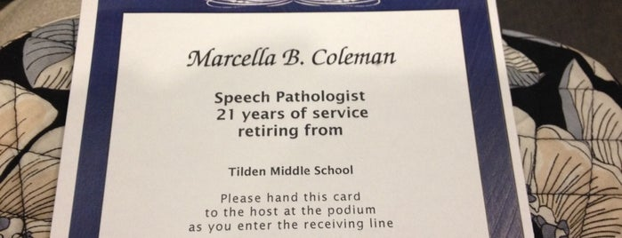 """Tilden Middle School is one of """"Been there, done that.""""."""