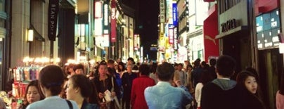 Myeongdong-street is one of South Korea.