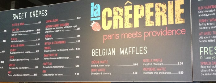 Creperie is one of PVD + other RI.