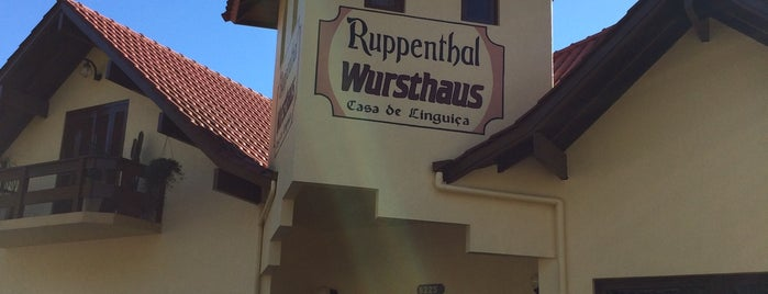 Ruppenthal Wursthaus - Casa de Lingüiça is one of สถานที่ที่ Annie ถูกใจ.
