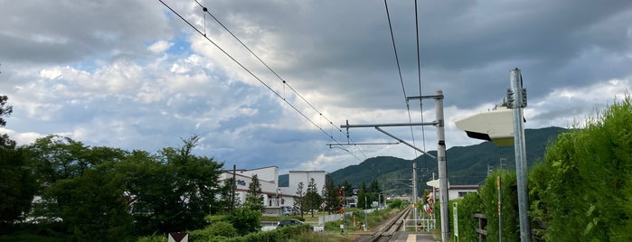 Minami-Omachi Station is one of JR 고신에쓰지방역 (JR 甲信越地方の駅).