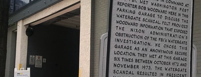 Watergate Investigation Garage is one of 111 Places Tips.