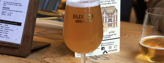 Buxton Brewery Tap House is one of Beer / Ratebeer's Top 100 Brewers [2019].