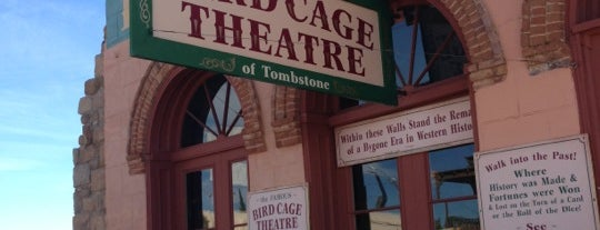 The Original Bird Cage Theatre Of Tombstone is one of Arizona.