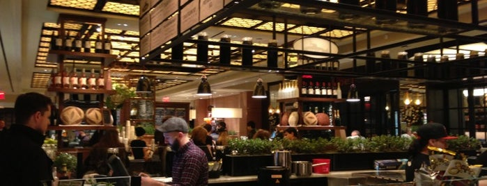 Todd English Food Hall is one of inexpensive lunches in midtown.