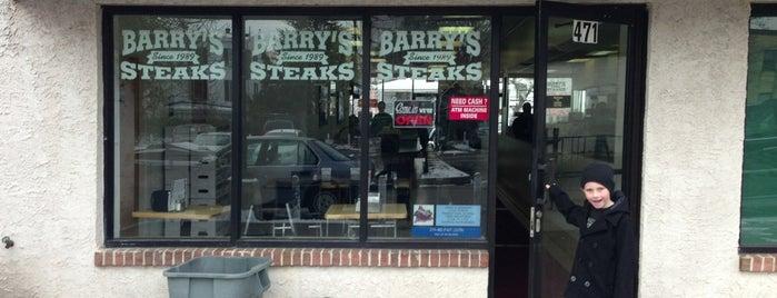 Barry's Steaks is one of Tempat yang Disimpan Brett.