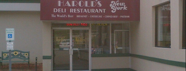Harold's New York Deli is one of Tempat yang Disukai Cynthia.