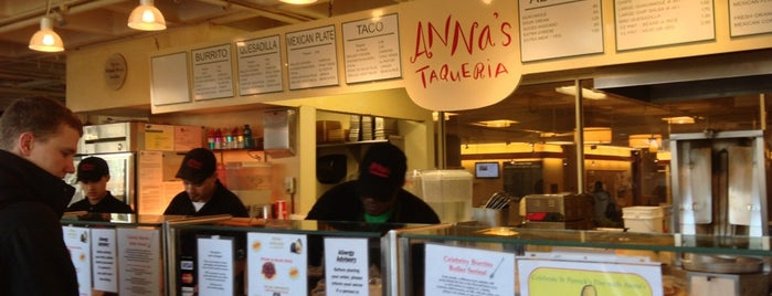 Anna's Taqueria is one of boston/cambridge.