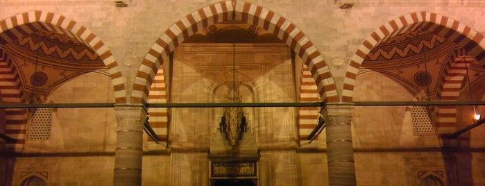 Üç Şerefeli Cami is one of Edirne Rehberi.