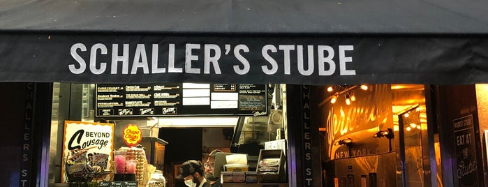 Schaller's Stube Sausage Bar is one of German spots in NYC.