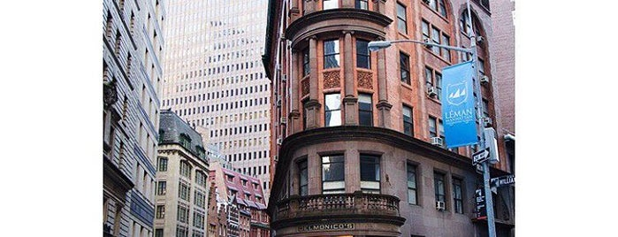 Delmonico's is one of The New Yorkers: Tribeca-Battery Park City.