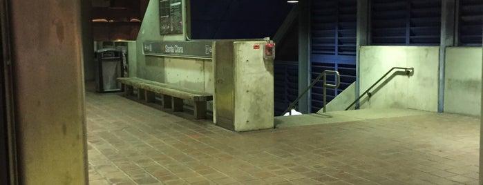 MDT Metrorail - Santa Clara Station is one of sole.