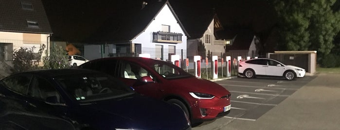 Tesla Supercharger Strasbourg is one of Superchargeurs Tesla en France.