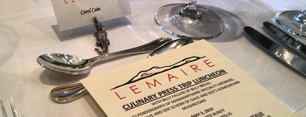 Lemaire is one of 500 Things to Eat & Where - South.