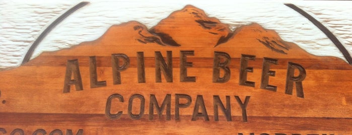 Alpine Beer Company is one of Beer / Ratebeer's Top 100 Brewers [2018].