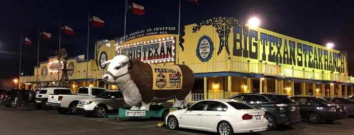 The Big Texan Steak Ranch is one of Route 66 Roadtrip.