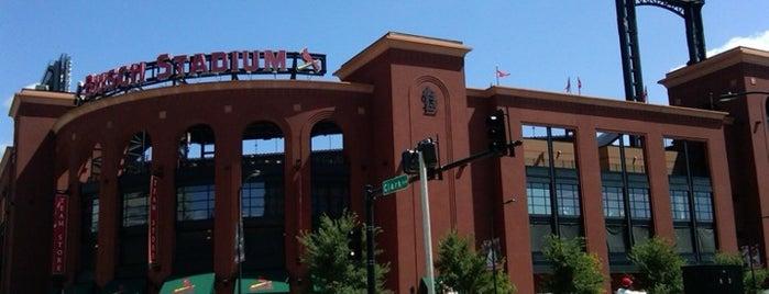 Busch Stadium is one of St. Louis.
