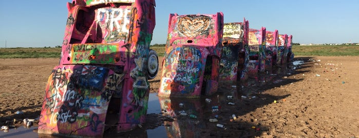 Cadillac Ranch is one of Route 66 Roadtrip.