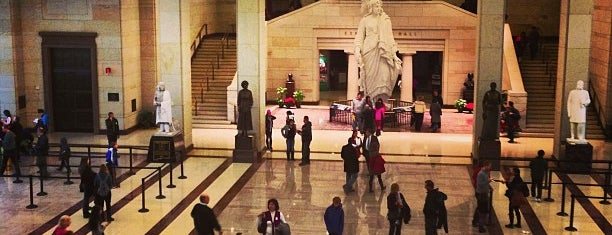 "U.S. Capitol Visitor Center is one of ""Hail, Columbia, happy land...""."