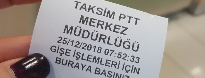 Taksim PTT is one of mistiklal.