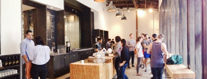 Stumptown Coffee Roasters is one of DTLA local digs.