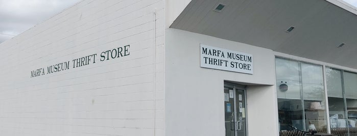 Marfa Museum Thrift Store is one of Marfa.