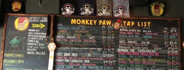 Monkey Paw Pub & Brewery is one of Locais curtidos por Larry.