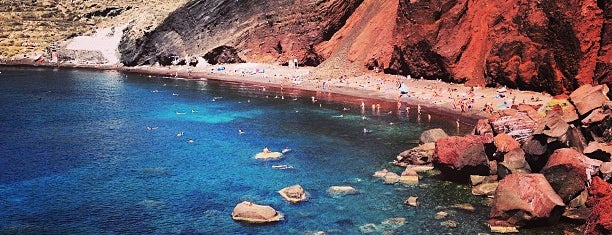 Red Beach is one of Santorini + Mykonos.